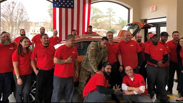 New car donated to Fort Eustis soldier, single dad