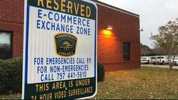 Norfolk Police Department says use its safe zones when buying from someone online