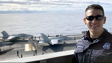 Virginia State Police trooper spends time on USS Harry S. Truman