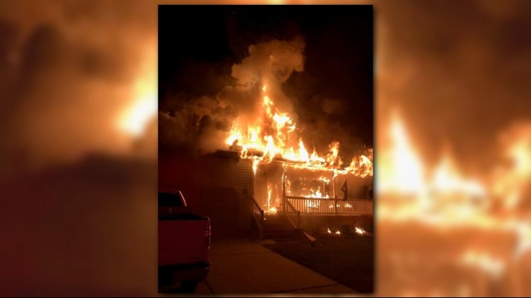 Flames engulfed Chesapeake home, two displaced
