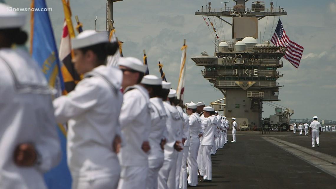USS Dwight D. Eisenhower Returns to Norfolk After Back-to-Back Deployment