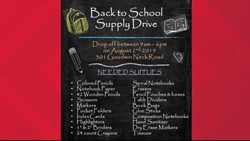 York-Poquoson Sheriff's Office holding school supply drive