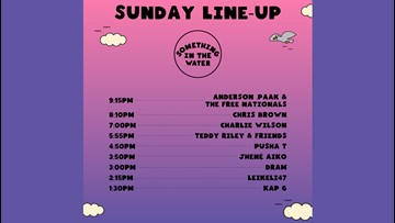 Set times, activity schedule for Something in the Water