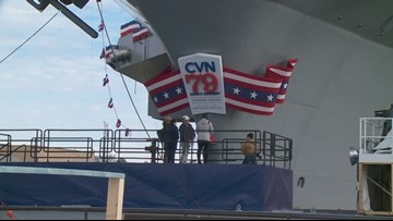 USS John F. Kennedy ready to be christened