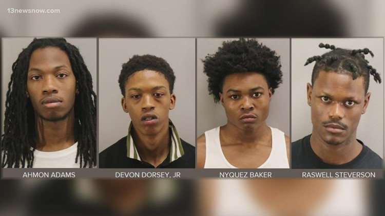 Four suspects from March Oceanfront shooting go before a judge