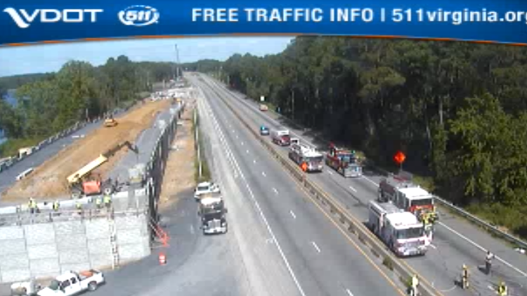 Traffic on I-64 near Chesapeake being rerouted due to vehicle fire