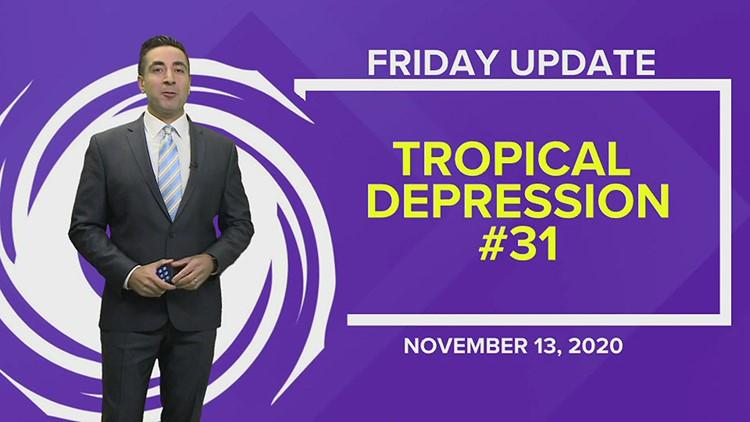 Tropics Update: Tropical Depression #31 to become Iota
