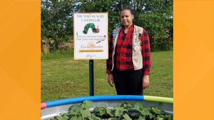 MAKING A MARK: Former Chesapeake Girl Scout creates community garden