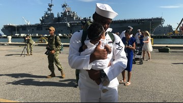 4,500 sailors, Marines on USS Kearsarge, USS Arlington return home to Hampton Roads