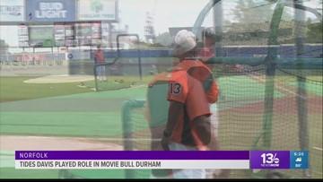 "Tides hitting coach, Butch Davis recalls his role in the baseball movie classic, ""Bull Durham"""