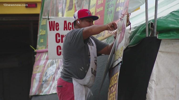 Vendors get ready for Neptune Festival's return to the Oceanfront