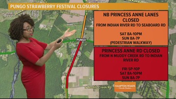 Pungo Strawberry Festival road closures
