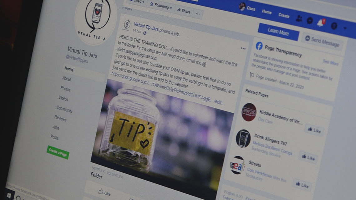 Community Supporting Service Industry Workers During Covid 19 Pandemic With Virtual Tip Jars 13newsnow Com