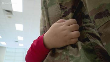Virginia Beach National Guardsman surprises kids at school after 297-day deployment