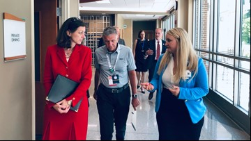 Congresswoman Elaine Luria toured Riverside Doctors' Hospital in Williamsburg
