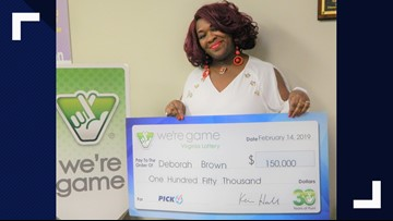 Richmond woman wins Virginia Lottery 30 times