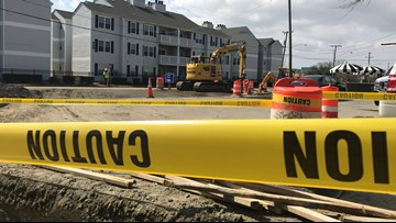Portions of Virginia Beach's Oceanfront under construction