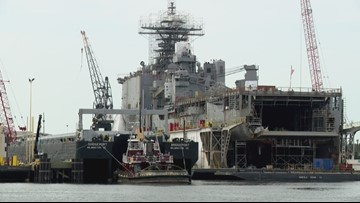 Navy reports threat called against USS Gunston Hall