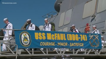 USS McFaul home after 8-month deployment