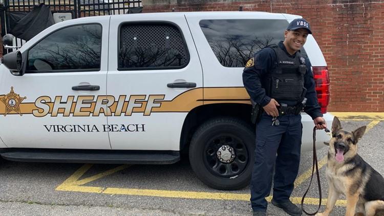 Virginia Beach Sheriff's Office K9 Gaston