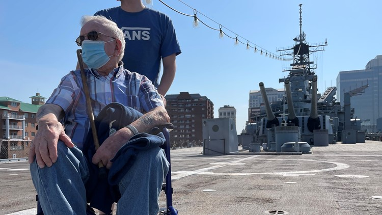 US Sailor makes long awaited return to Battleship Wisconsin