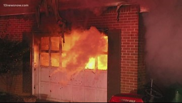 Virginia Beach Firefighter's house total loss after fire