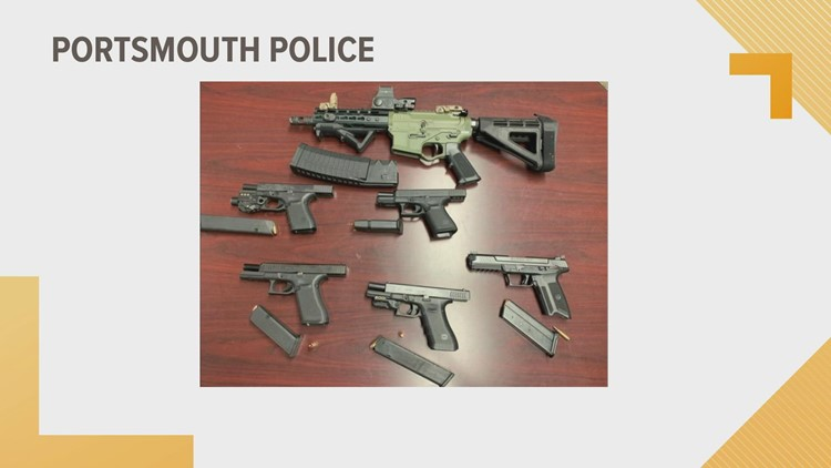 Portsmouth police seize 9 guns, vehicle, arrest 6 people in warrant sweep