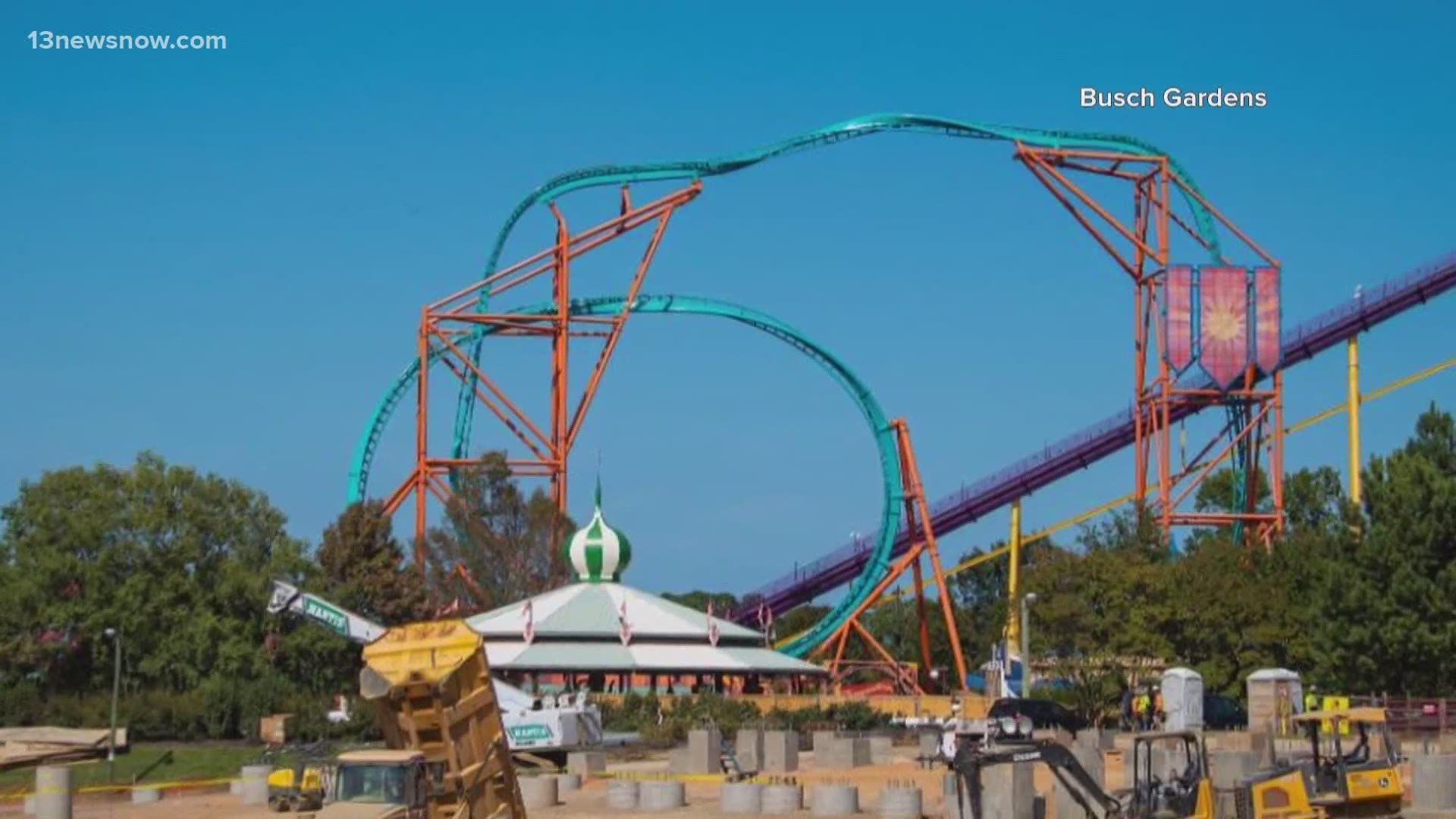 Busch Gardens Williamsburg Remains Closed During Phase 3 13newsnow Com