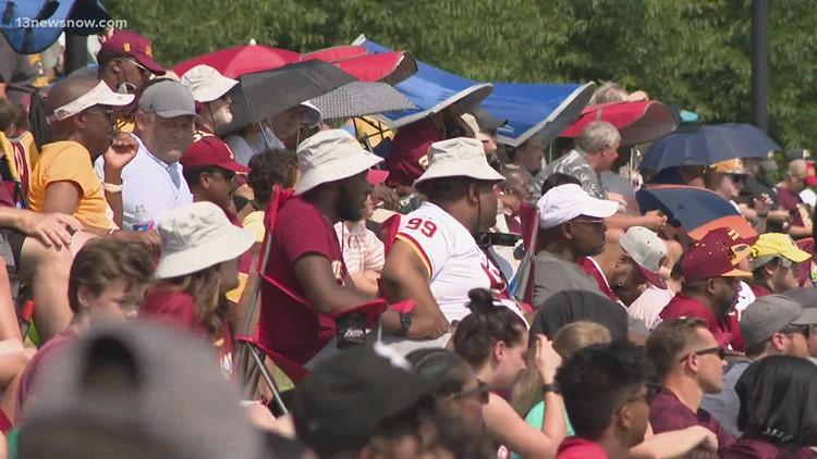 Fans return to Washington training camp
