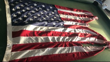 Frying Pan Tower selling flag flown during Hurricane Dorian to raise money for local communities