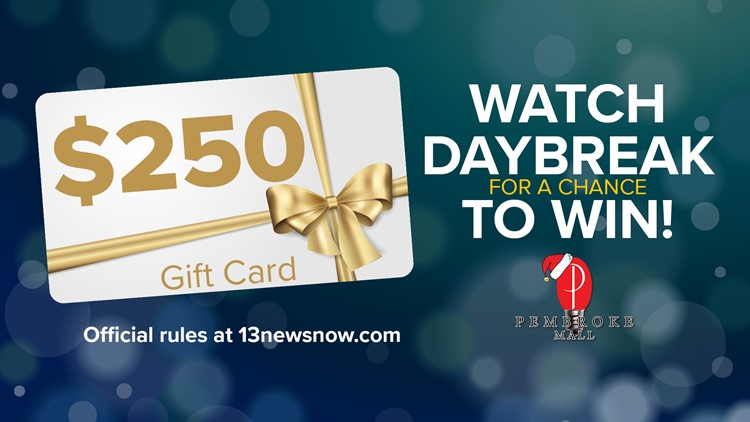 Pembroke Mall sweepstakes: Watch Daybreak for a chance to win! RULES