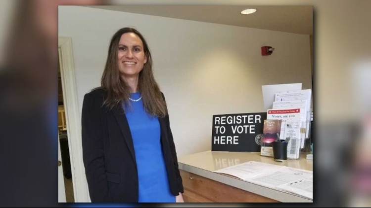 Allison White, a teacher at King's Fork High School in Suffolk, would be the first transgender person to run for Virginia Beach City Council.