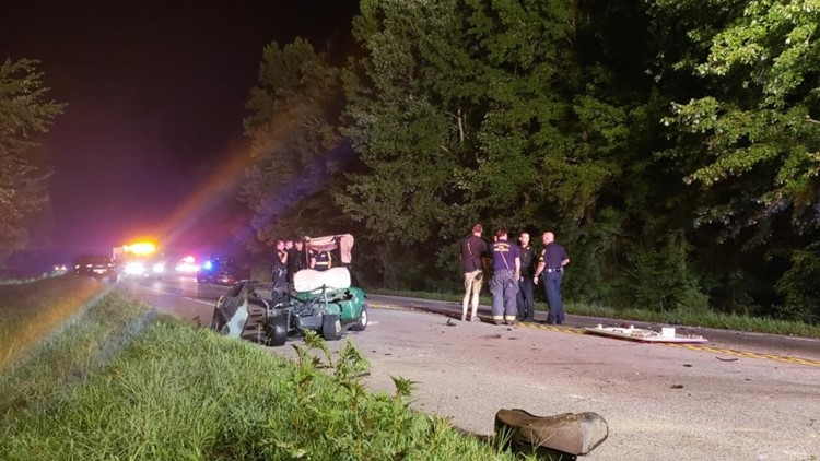 Man driving golf cart dies in crash involving car in Isle of Wight County; driver charged with DUI