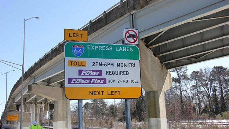 express lanes I-64