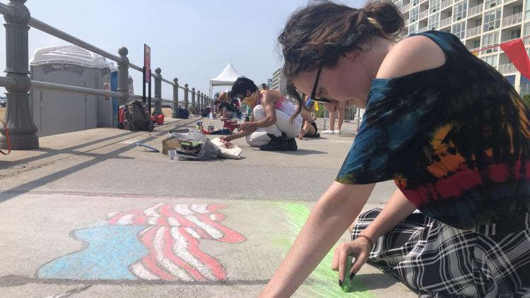 Artists take over the Virginia Beach boardwalk for 15th annual 'Chalk The Walk' competition