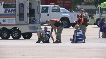 Naval Air Station Oceana holds pre-air show mishap drill
