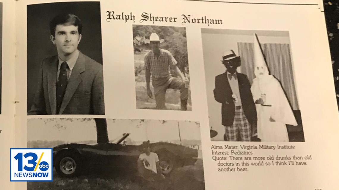 ralph northam yearbook page includes photo of blackface