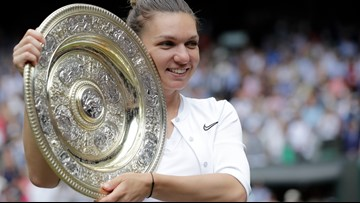 Halep denies Williams at tying record and wins 1st Wimbledon title