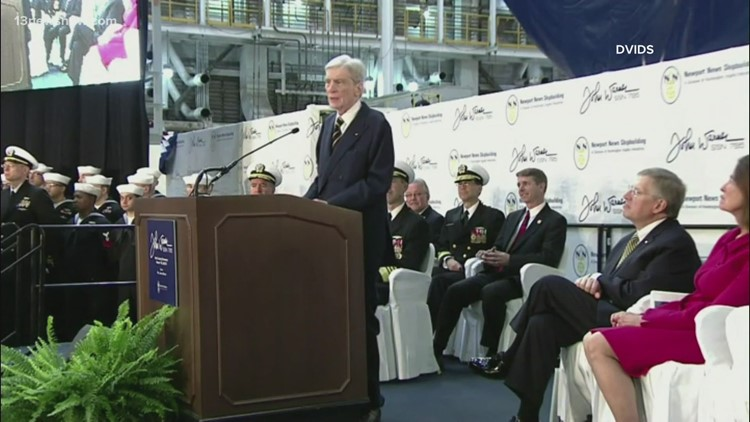 Biden and others mourn former Senate colleague, Virginia's John Warner