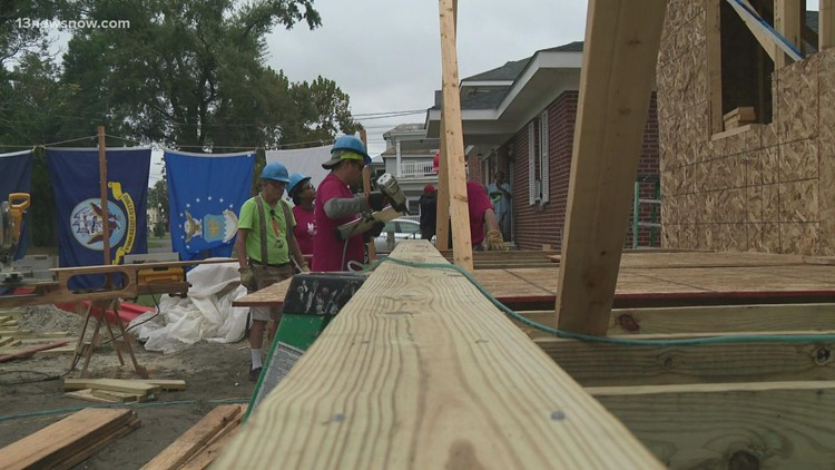 First responders team up to build new Habitat for Humanity home in Suffolk