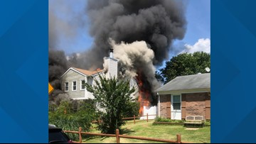 Newport News crews battle residential fire