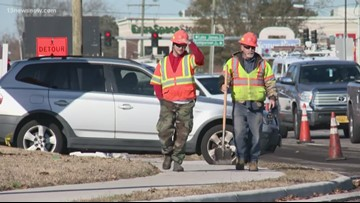 Lane closures, traffic jams, and frustration at busy Virginia Beach intersection