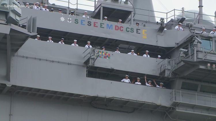 Navy deploys USS Dwight D. Eisenhower carrier strike group