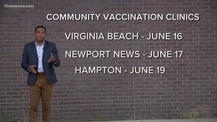 Community COVID-19 vaccination clinics in Hampton Roads are winding down. Where can you still get a shot?