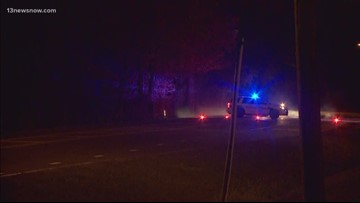 Car hits power pole on Indian River Road