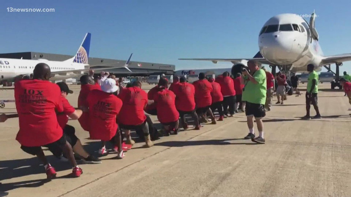 Chesapeake sheriff's deputies, police officers train for Dulles plane pull to benefit Special Olympics