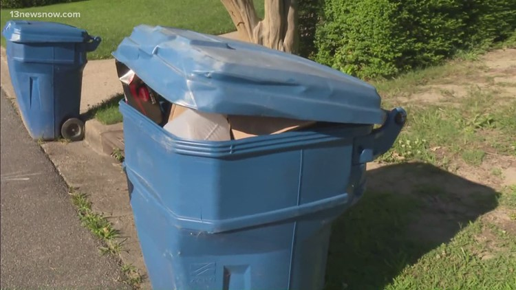 Hampton Roads residents notice recycling pickup delay, officials say driver shortage is to blame