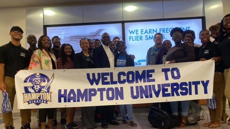 Hampton University welcomes Bahama students