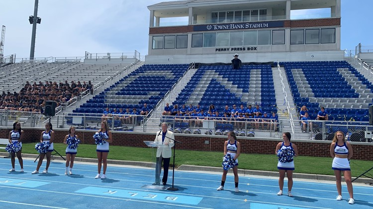 Christopher Newport University announces new football stadium name