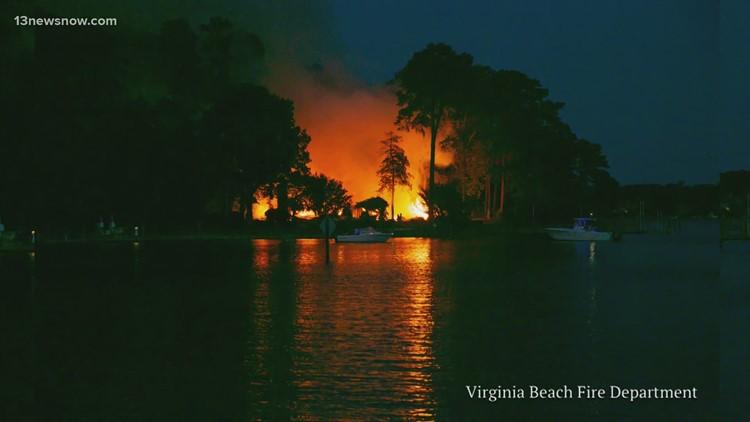 Firefighters faced challenges battling Virginia Beach blaze